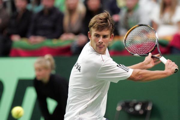 """L.Grigelis nepateko į """"Challenger Tour"""" turnyro ketvirtfinalį"""