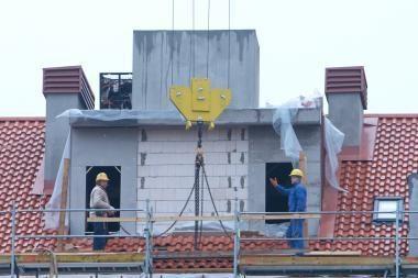 Per metus labiausiai pigo gyvenamųjų pastatų statyba