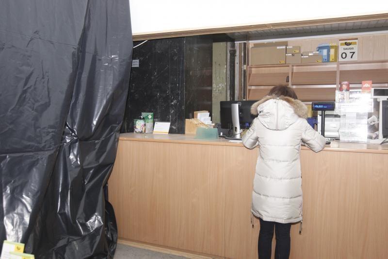 Klientai išsigando dėl pašto padalinio Vokiečių gatvėje darbuotojų