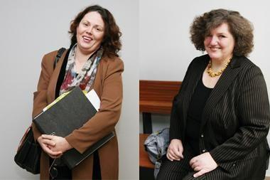 Žymios moterys susitiko teisme