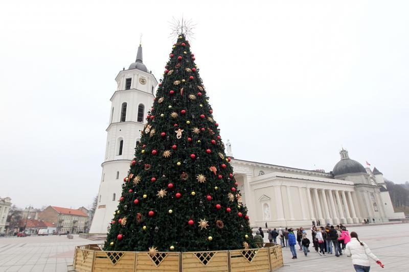 Katedros aikštėje bus įžiebta Kalėdų eglė