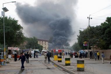 Irake sprogus savadarbei bombai žuvo aštuoni kariai