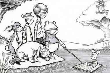 Kiaulių gripas sukėlė juoko epidemiją