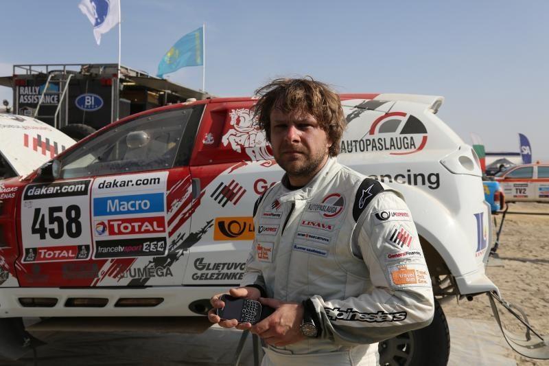 Priešpaskutinę Dakaro dieną B. Vanagas su šturmanu baigė 30-ti
