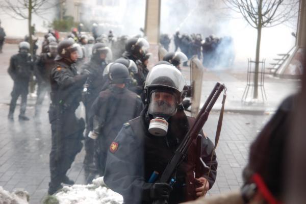 Policija bijo studentų protesto