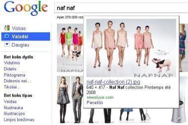 """""""Google"""" patobulino paveikslėlių paiešką"""