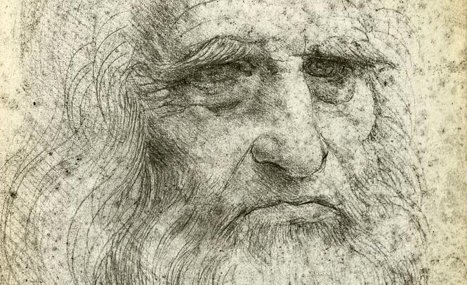 "L. da Vinci autoportretas              ""susirgo"""