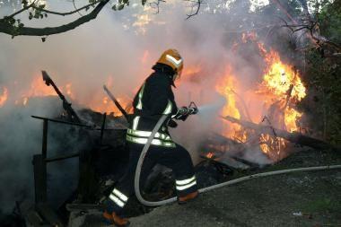 Kretingoje sudegė sodo namelis