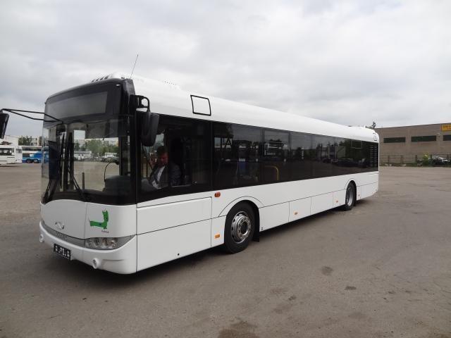 Panevėžį pasiekė pirmasis naujas hibridinis autobusas