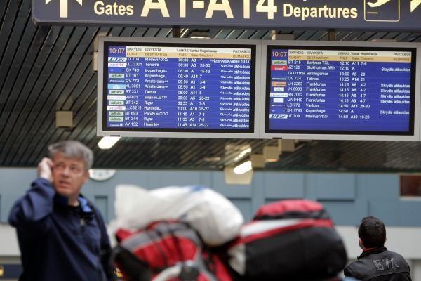 Vilniaus oro uostas: atšaukti vos keli skrydžiai