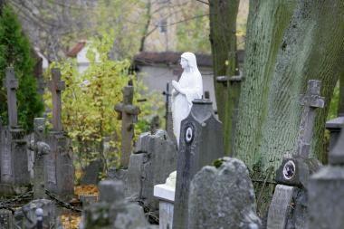 Prieš Vėlines - vagystė kapinėse