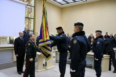 Vidaus tarnybos I pulkas gavo naują vėliavą