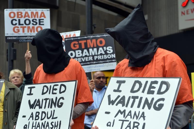 JAV Gvantanamo kalėjime 92 iš 166 kalinių dalyvauja bado streike