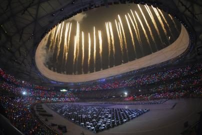 Pasaulis stebi olimpiados atidarymą