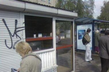 Globos namų ugdytiniai apvogė kioską