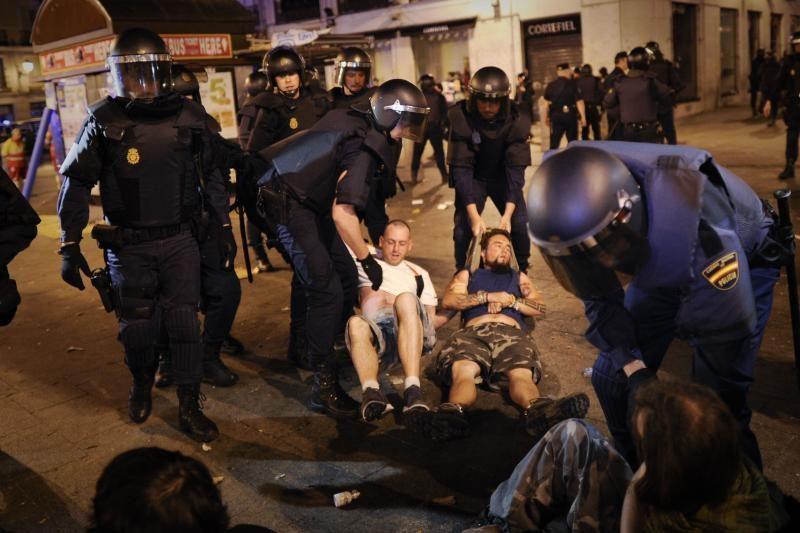 Ispanijos policija išvaikė protestuotojus iš Madrido centrinės aikštės