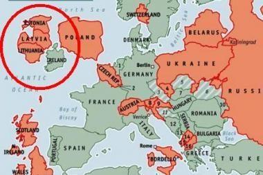 """""""The Economist"""" siūlo Lietuvą iškelti prie Airijos"""