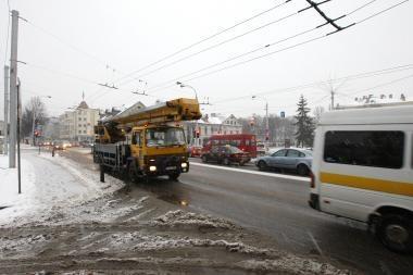 Kauno centre sunkvežimių eismo neuždraus