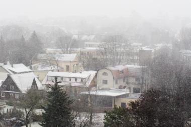 Savaitgalį sinoptikai gausesnio sniego nežada