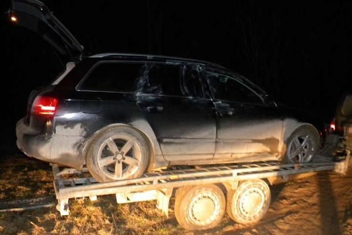 """Pasieniečiai sulaikė Vokietijoje vogtą apynaujį automobilį """"Audi A4"""""""