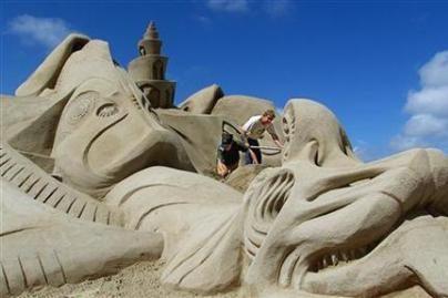 Italijoje - jokių smėlio pilių!