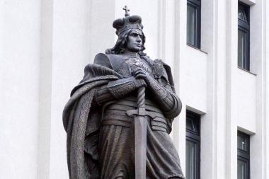 Alytaus r. atidengiamas paminklas Vytautui Didžiajam ir Žalgirio mūšiui