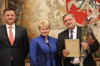 Jubiliejinėje Verslo šlovės galerijoje - V.A.Bumelis, A.Saladžienė ir R.Valiūnas