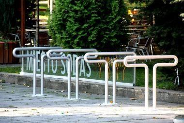 Kaune įrengti nauji dviračių stovai