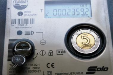 Už gruodį sunaudotą elektrą mokėti senais tarifais