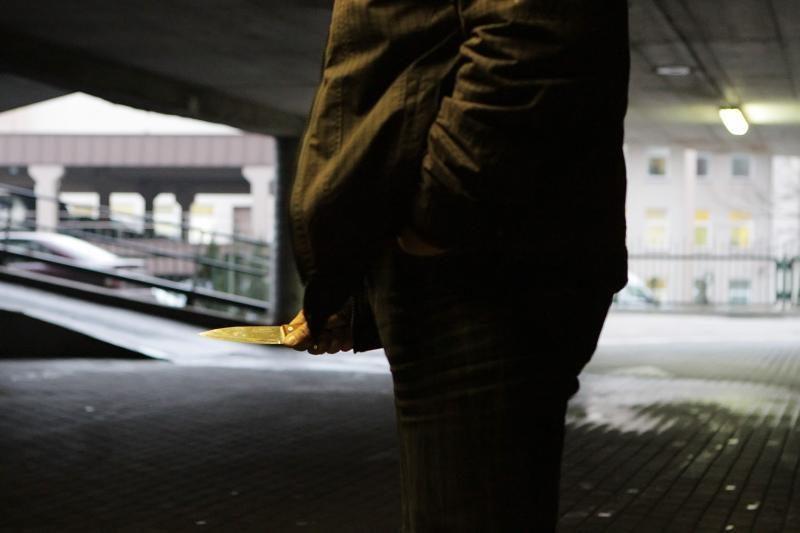 Vagis peiliu sužalojo apsaugos darbuotoją