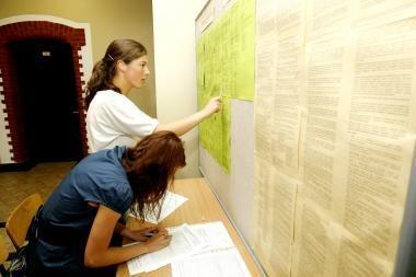 Abiturientai sužinos, į kurias studijų programas pateko