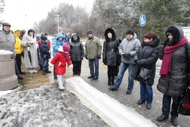 Velykų linksmybėms Palangoje sutrukdė sniegas