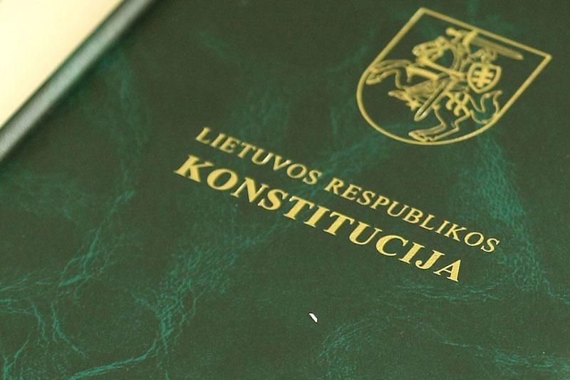 Patvirtintas konstitucinių įstatymų sąrašas