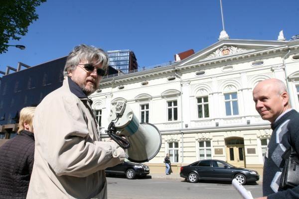 Klaipėdiečiai piketavo prieš Vyriausybės veiksmus