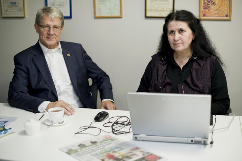 Portalo svečiai – J.Šimanauskienė ir M.Zasčiurinskas