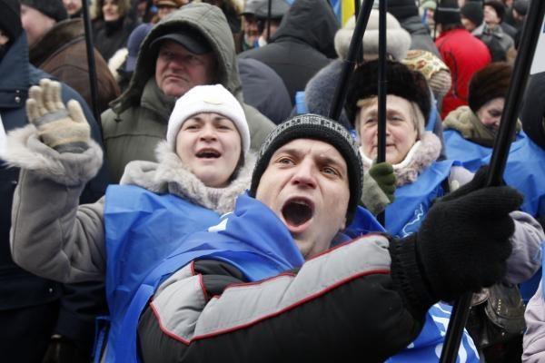 Valdžia išvaikė palapinių miestelį Kijeve