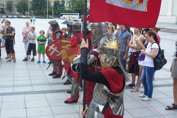 Prie Valdovų rūmų vyko riterių kautynės