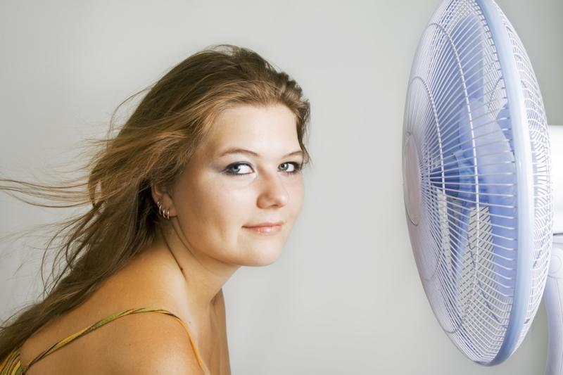 Karščio išvarginti gyventojai iš parduotuvių šluoja ventiliatorius