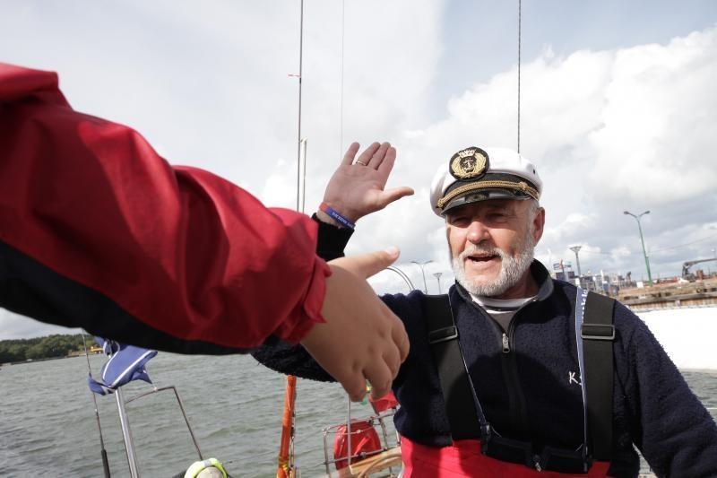"""Klaipėdiečiai pasitiko jachtą """"Lietuva"""""""
