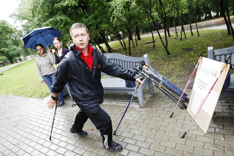 Šiaurietiško ėjimo mokymai Klaipėdoje dar nesibaigė