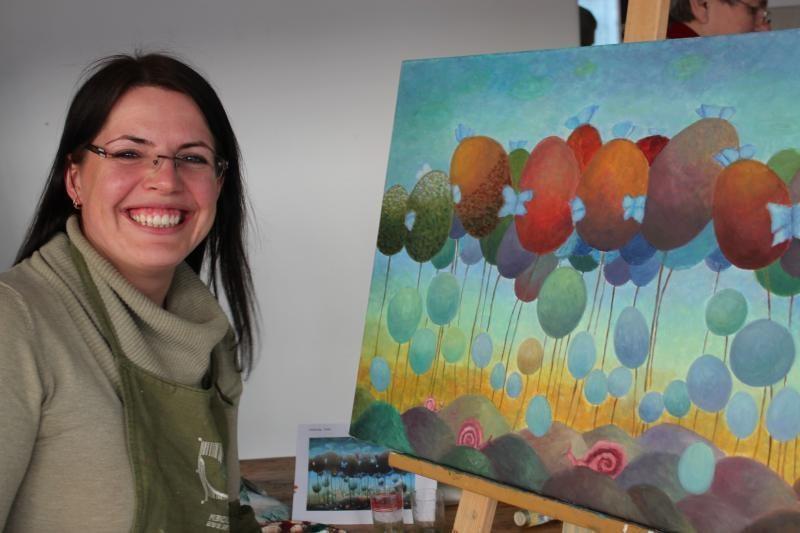 Meno kieme - tapybos kursų suaugusiesiems dalyvių darbų paroda