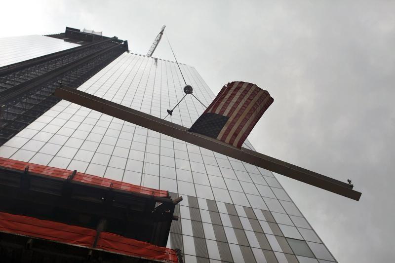 Ant Pasaulio prekybos centro pritvirtintas paskutinis elementas