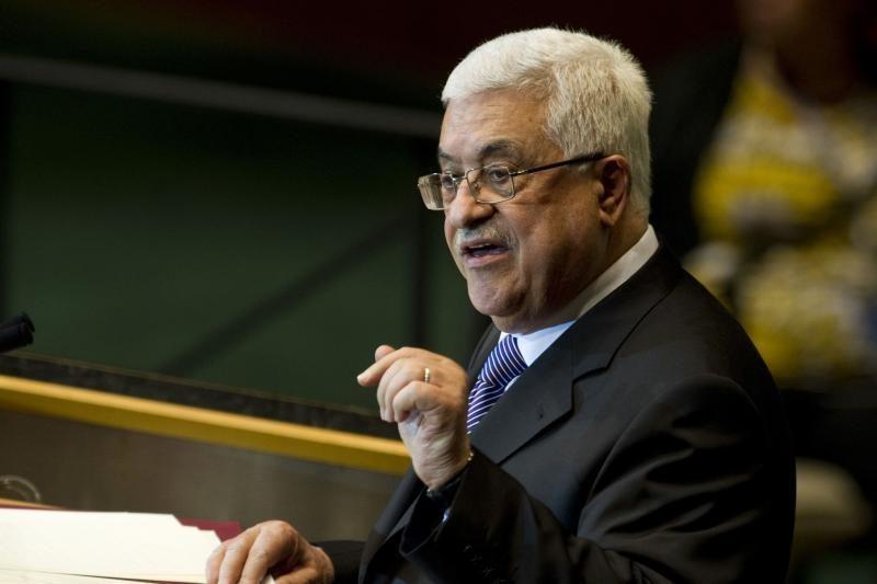 Iš JT namo grįžusį Palestinos vadovą pasitiko džiūgaujančios minios