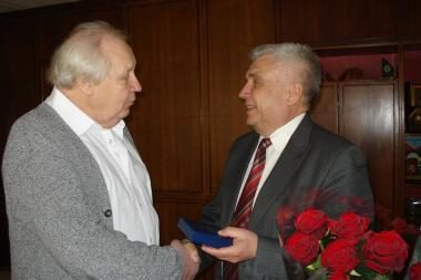 Meras jubiliejaus proga pasveikino maestro S.Domarką