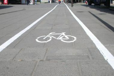 Verkių gatvėje neliks laikinojo dviračių tako