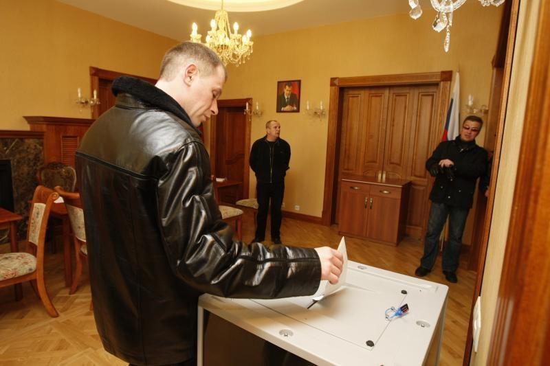 Rusijos piliečiai Klaipėdoje rinko prezidentą (atnaujinta 19:06 val.)