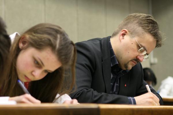 Konstitucijos egzaminą Vilniuje laikė tik 50 žmonių