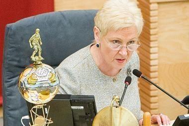 Seimo pirmininkė: KT išvada - pamoka visiems Seimo nariams