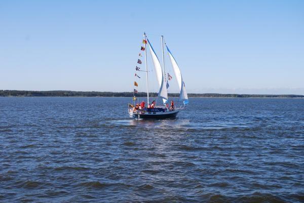Nidos laivų parade liejosi linksmybės