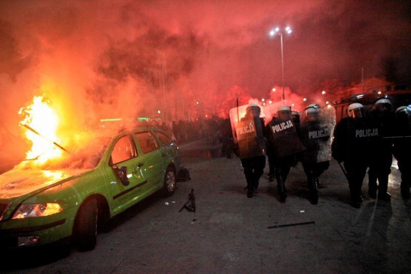 Varšuvoje chuliganų sukeltose riaušėse dalyvavo ir užsieniečiai